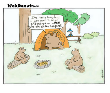 Camping Cartoon