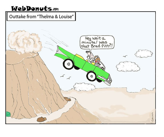 Thelma and Louise Cartoon