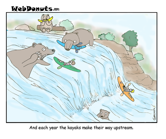 Kayak Cartoon
