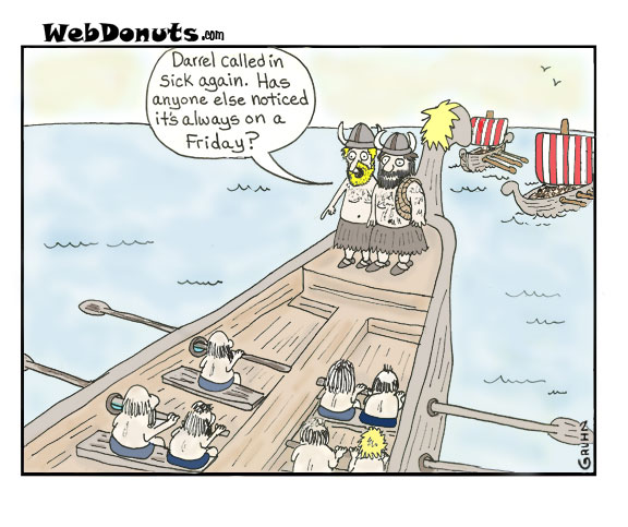Funny Viking Cartoon Webdonuts Webcomics