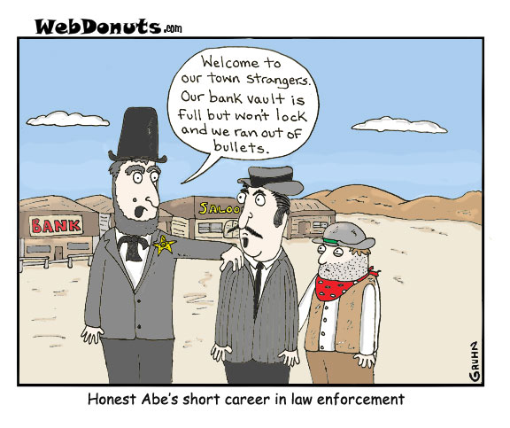 Abraham Lincoln Cartoon Webdonuts Webcomics